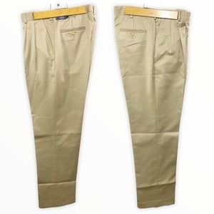 New Lands' End Pleated Traditional Fit Dress Pants